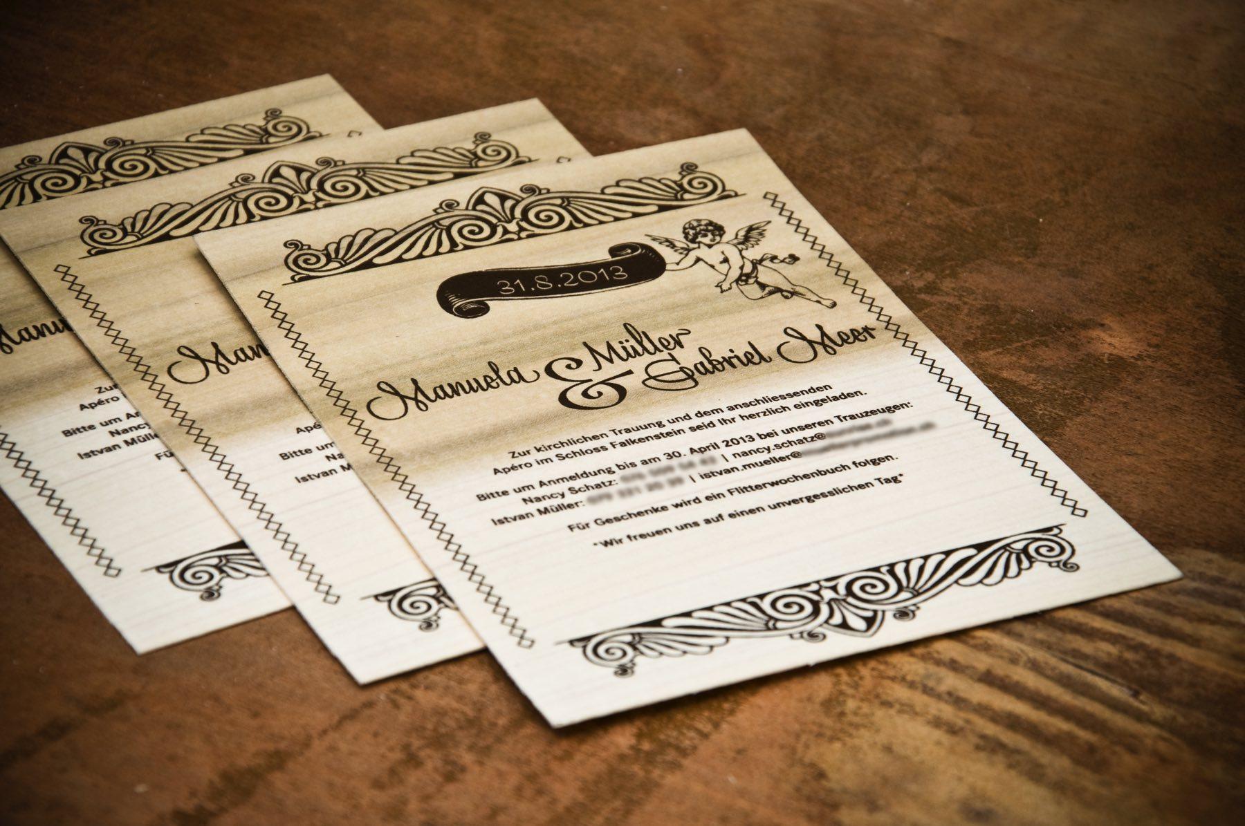 Atelier Margrit Hochzeitskarten Auf Holz Meer